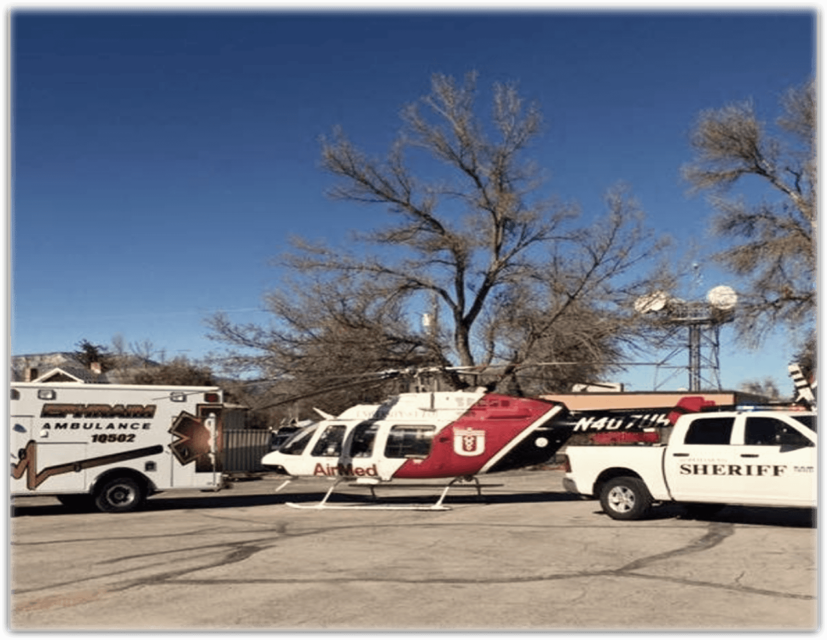 Vehicles: Ambulance, Helicopter, Sheriff
