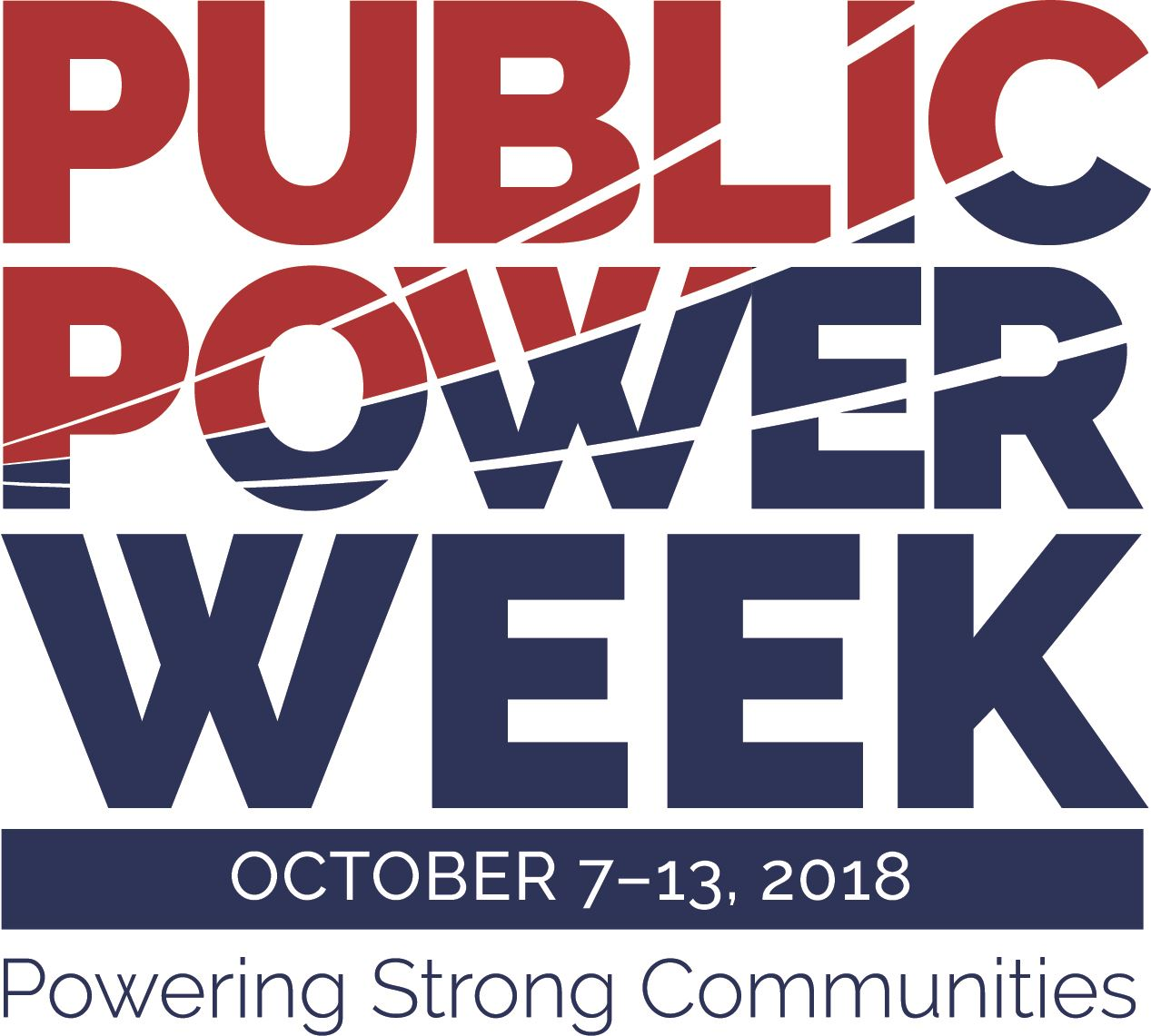 Public Power Week Red and Blue Logo
